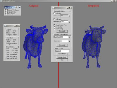 Overview of the mesh simplifier, mooooooh!